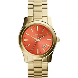 Michael Kors Watches MK5915 Runway Coral & Gold Stainless Steel Ladies Watch