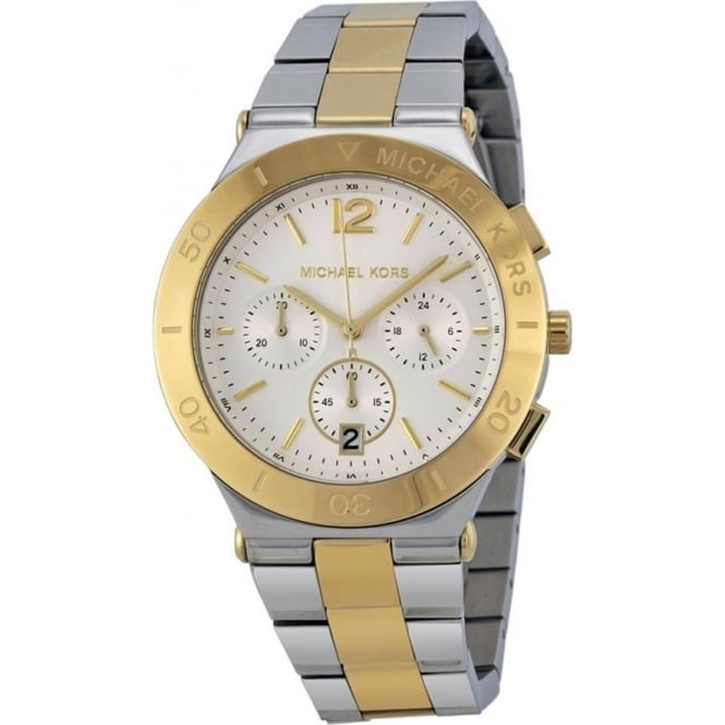 mk5934 michael kors gold and silver stainless steel