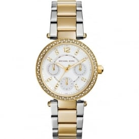Michael Kors Watches MK6055 Parker Silver & Gold Stainless Steel Ladies Watch