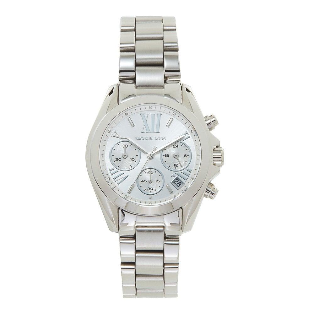 1844ca26dc3e MK6174 Mini Bradshaw Silver Stainless Steel Chronograph Ladies Watch