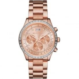 Michael Kors Watches MK6204 Brinkley Rose Gold Tone Stainless Steel Chronograph Ladies Watch