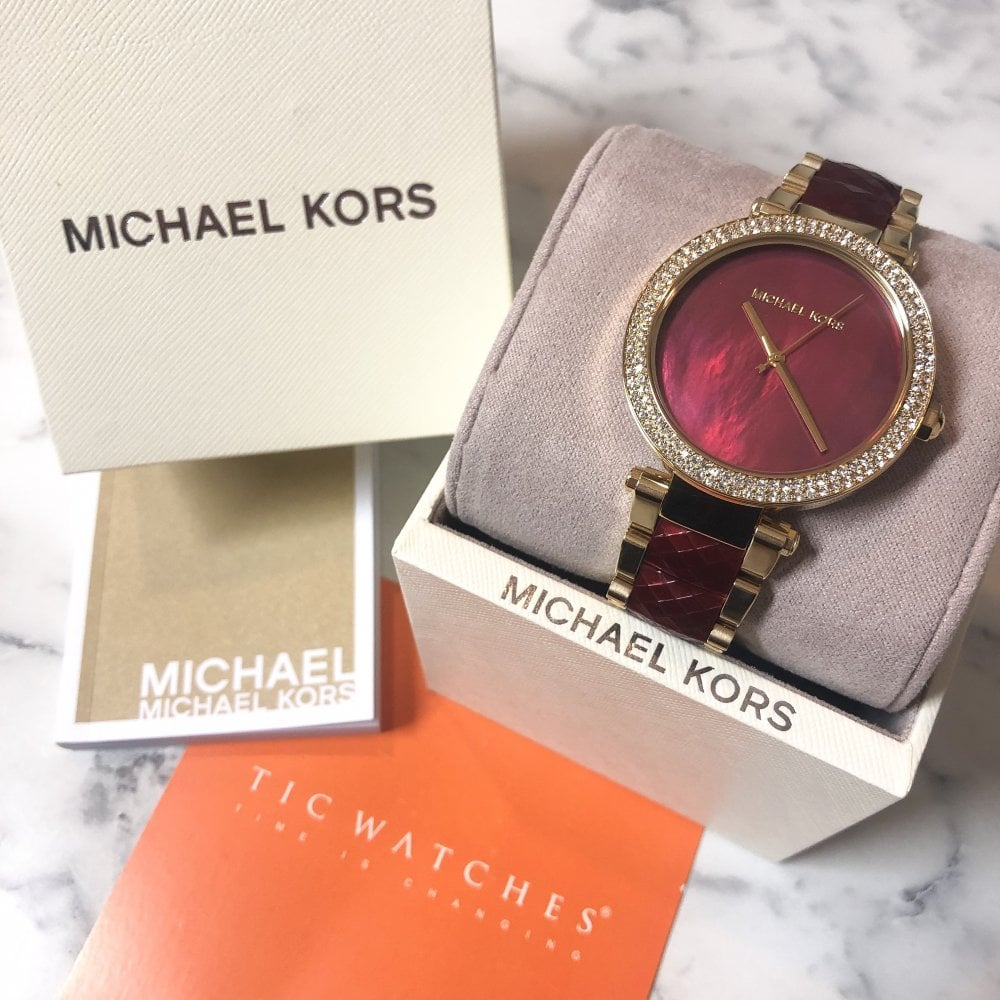 331c46c0d91bf Michael Kors MK6427 Parker Stainless Steel Ladies Watch available at ...