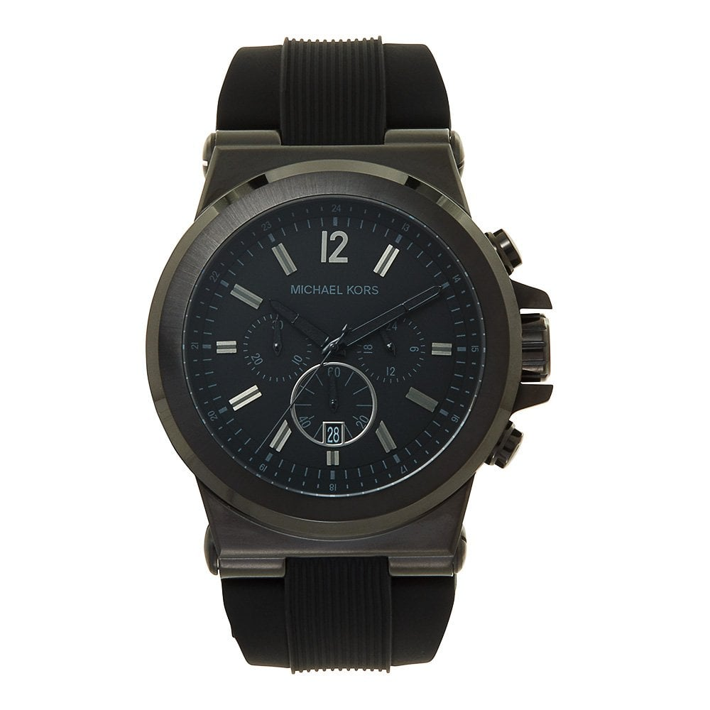 332f9d290f20 Michael Kors MK8152 Dylan Black Chronograph Watch available at Tic ...