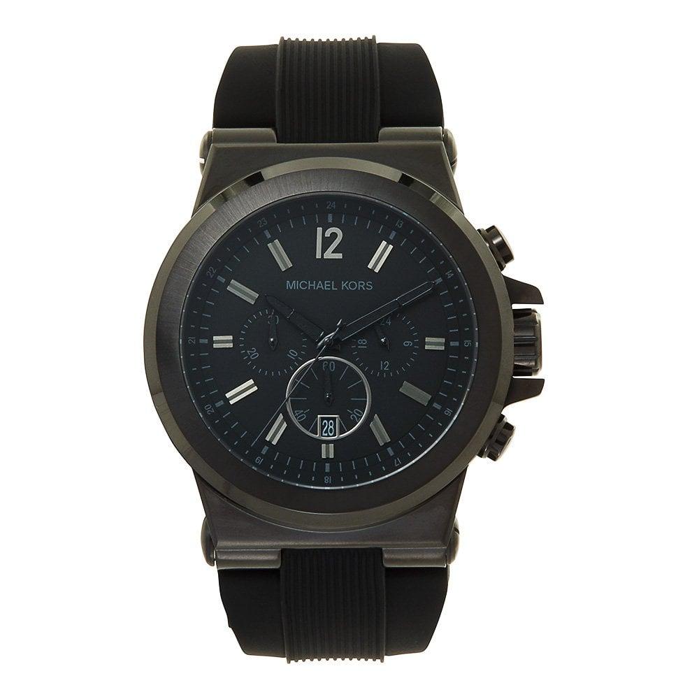 748cc82e5bd1 Michael Kors MK8152 Dylan Black Chronograph Watch available at Tic ...