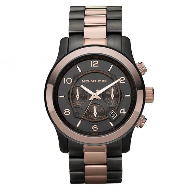 Michael Kors Watches MK8189 Runway Rose Gold & Gunmetal Stainless Steel Chronograph Men's Watch