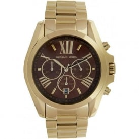 Michael Kors Watches Unisex Chronograph Gold Plated Stainless steel Watch MK5502