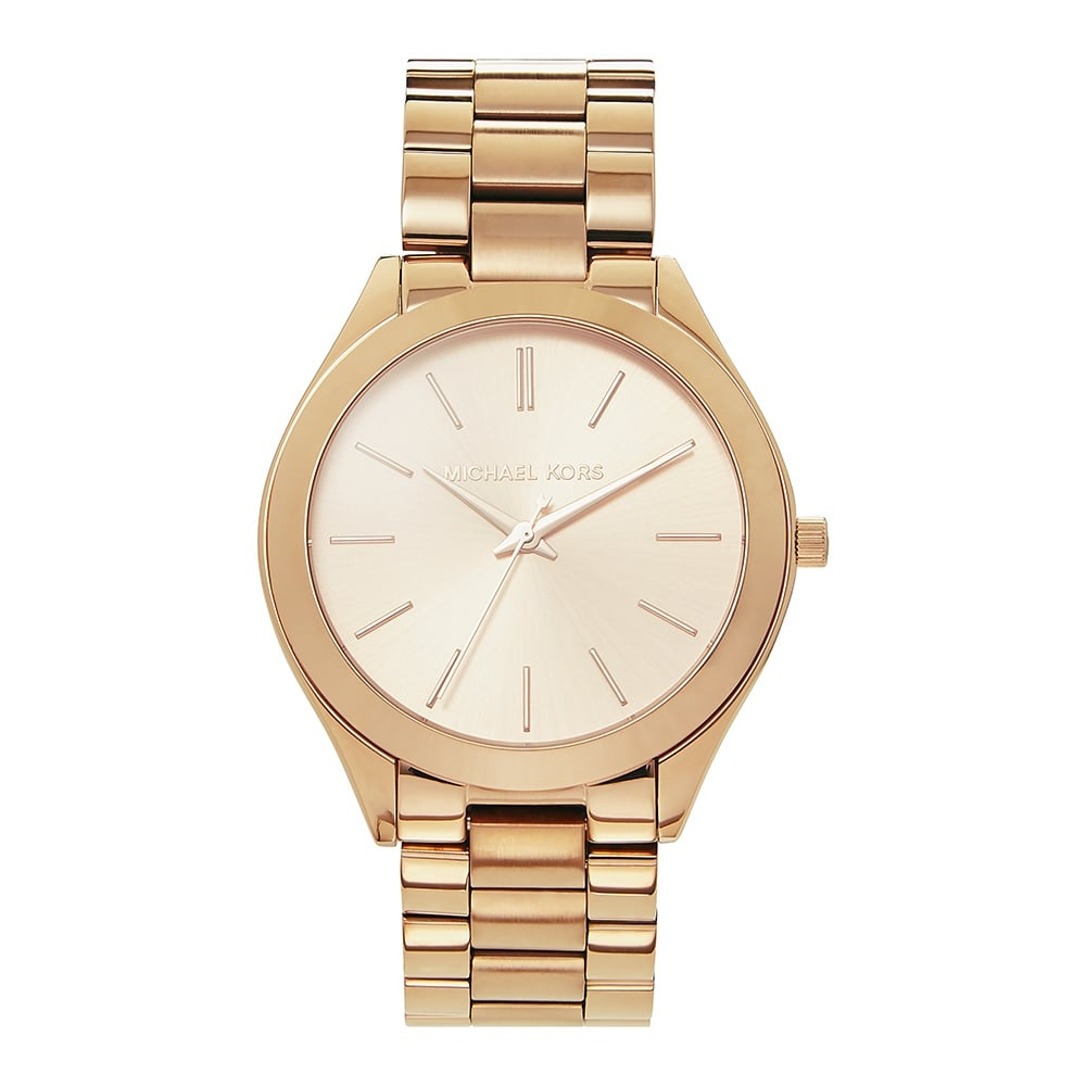15fe742cf MK3197 Slim Runway Ladies Rose Gold-Tone Stainless Watch