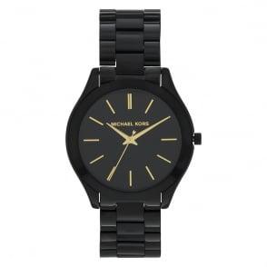 3604508ee5ba MK3221 Slim Runway Black Stainless Steel Watch In Stock. Michael Kors ...