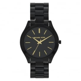 MK3221 Slim Runway Black Stainless Steel Watch