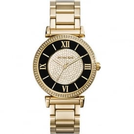 MK3338 Black & Gold Stainless Steel Ladies Watch