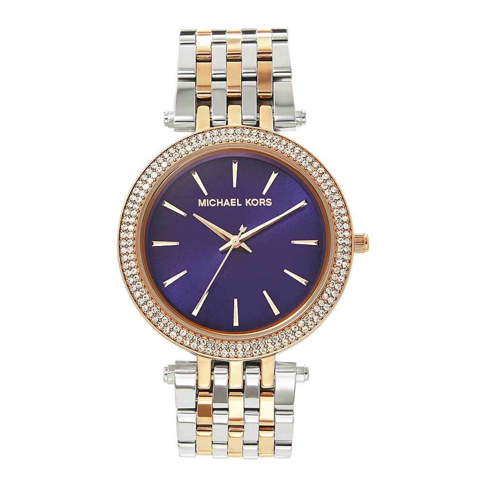 b4e69308eb3b1 MK3353 Michael Kors Darci Purple and Two Tone Stainless Steel Ladies ...