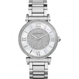 Michael Kors Watches MK3355 Catlin Silver Stainless Steel Ladies Watch