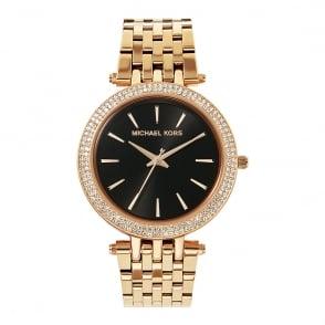 6df79af2df99 MK3402 Darci Black   Rose Gold Tone Stainless Steel Ladies Watch In Stock · Michael  Kors ...