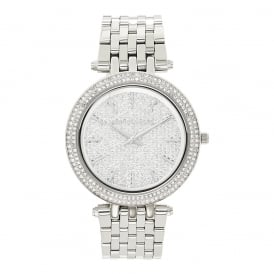 MK3437 Darci Embedded Crystal & Silver Stainless Steel Ladies Watch
