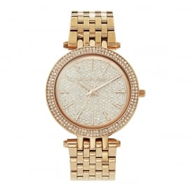 MK3439 Darci Embedded Crystal & Rose Gold Tone Stainless Steel Watch