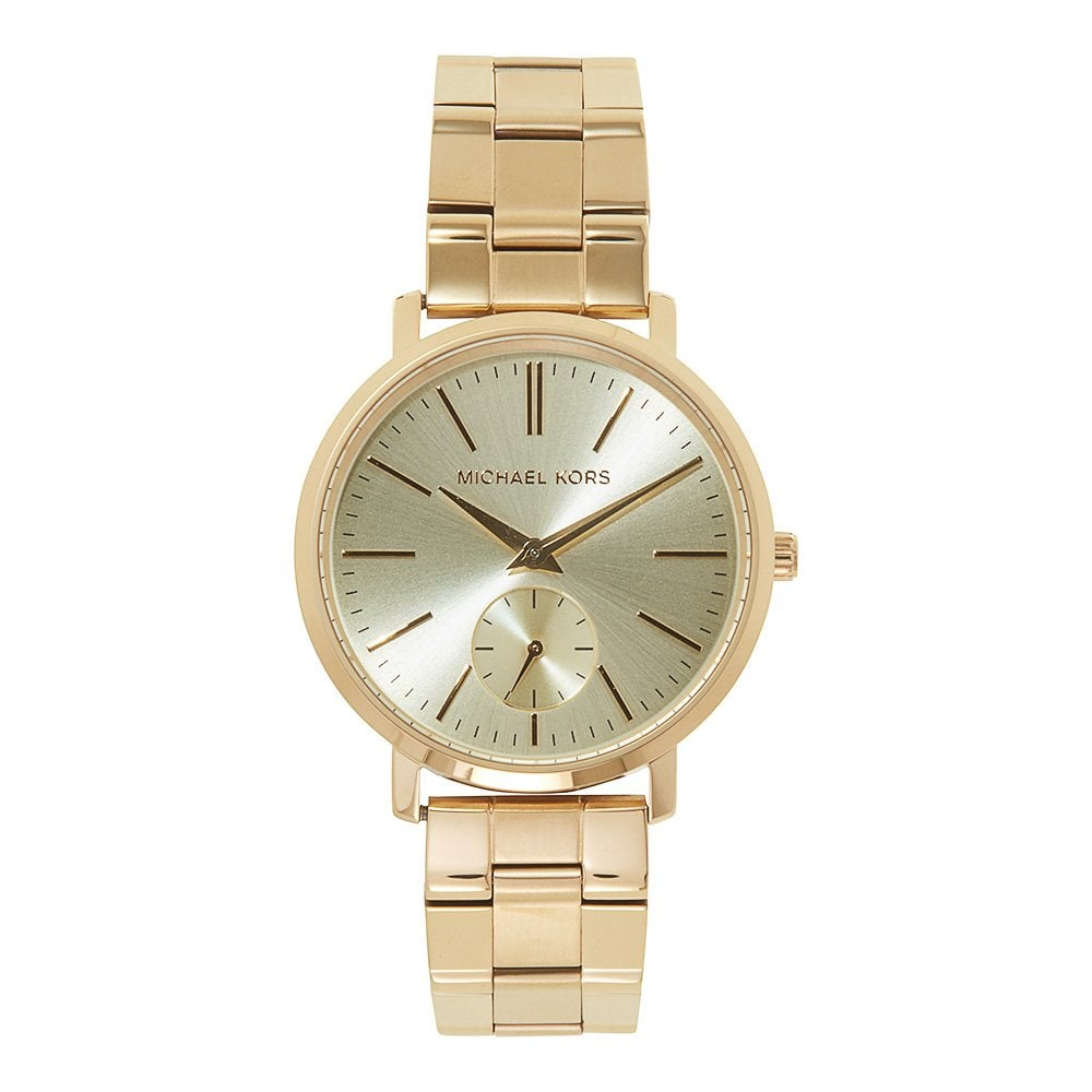 Mk3500 Michael Kors Jaryn Gold Tone Stainless Steel Ladies Watch