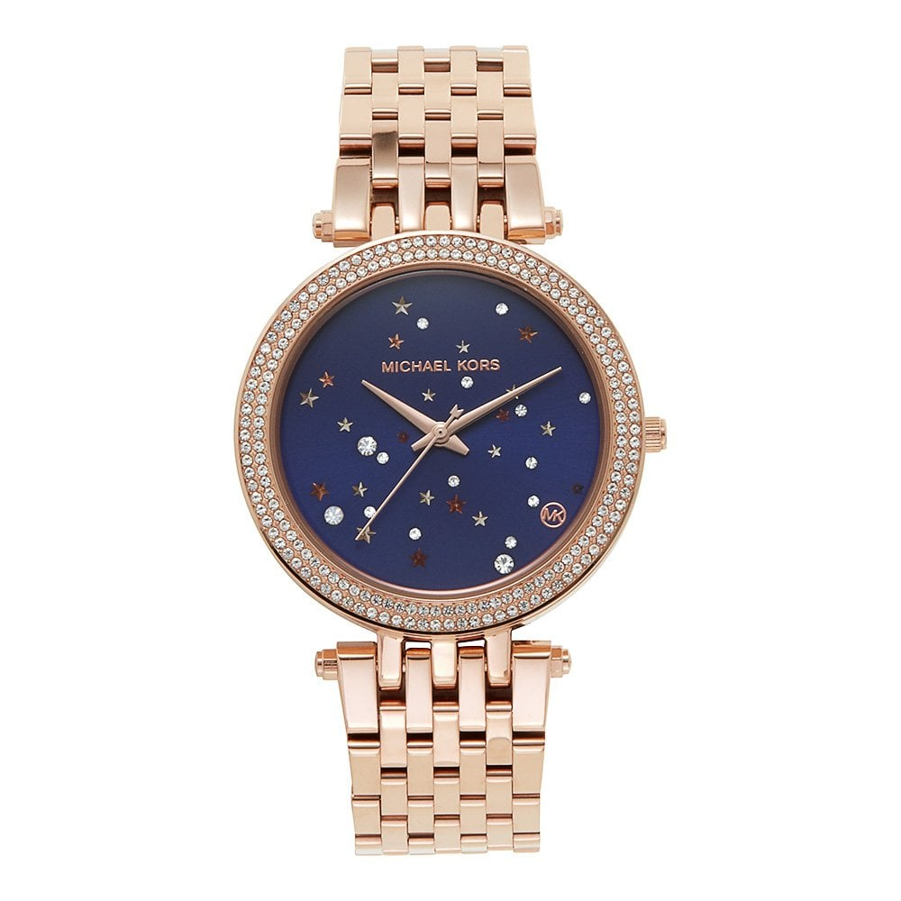 29efbcf101a06 Buy The Michael Kors MK3728 Darci Rose Gold   Purple Ladies Watch ...