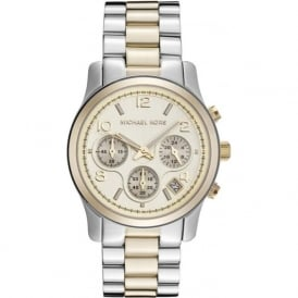 Michael Kors Watches MK5137 Ladies Chronograph Stainless Steel & Gold-Tone Watch