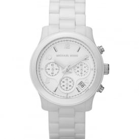 Michael Kors Watches MK5161 Ladies Chronograph White Ceramic Watch