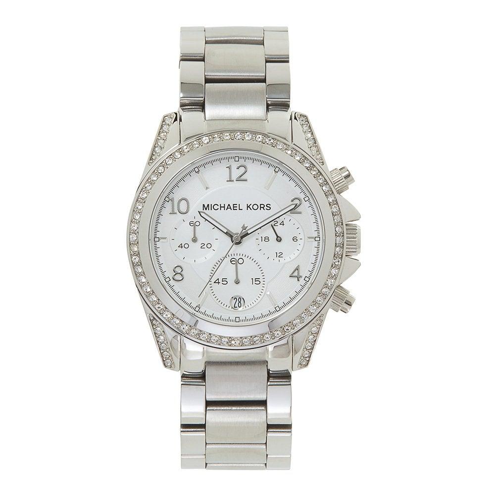 9a63dba8dfb5 MK5165 Blair Ladies Chronograph Silver Stainless Watch