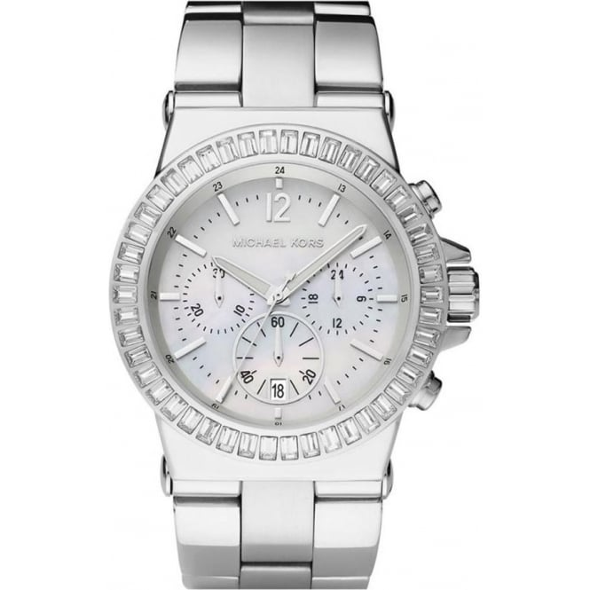 Michael Kors Watches MK5411 Dylan Silver Stainless Steel Chronograph Ladies Watch