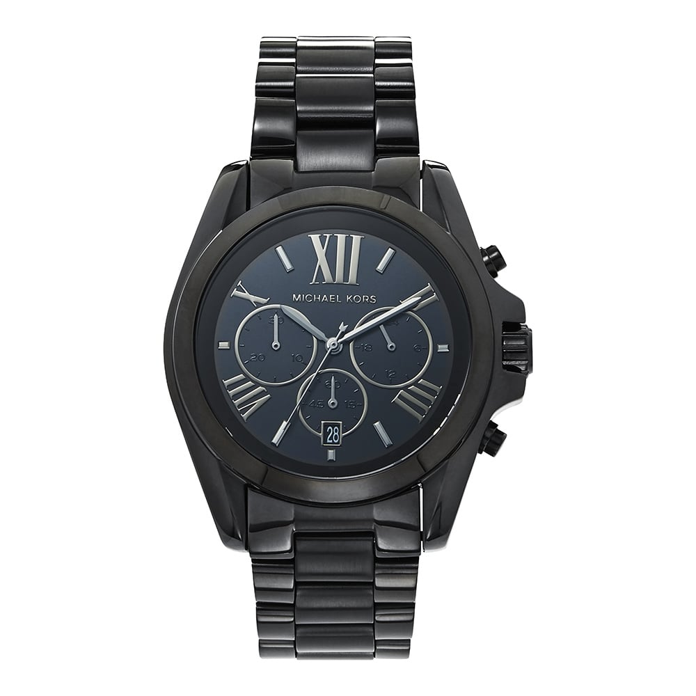 ce7f30a4f0b5 MK5550 Bradshaw Chronograph Black ION Plated Stainless steel Watch