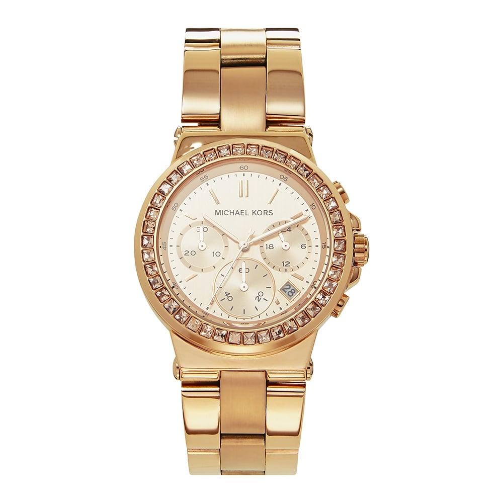 ae7ad137266f MK5586 Michael Kors Mini Dylan Rose Gold Chronograph Watch on sale ...