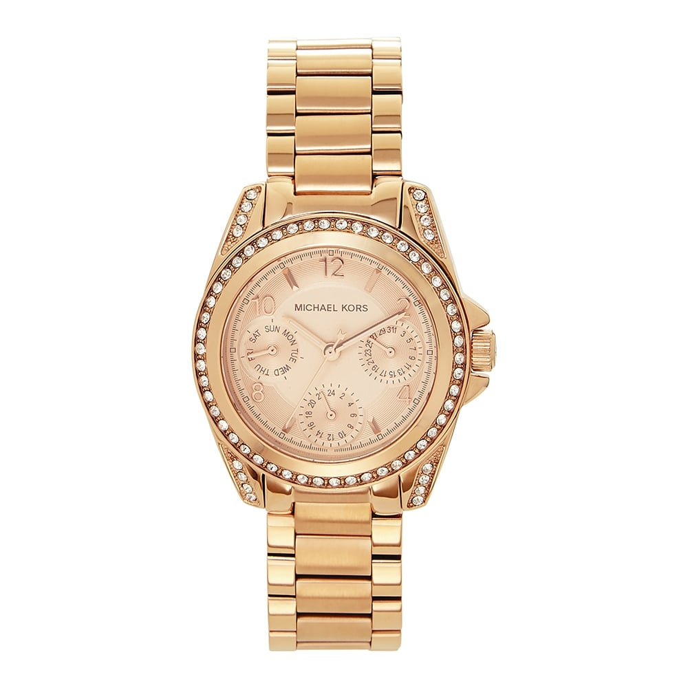 f7cf1f23d7e3 Michael Kors Watches Michael Kors Watches MK5613 Mini Blair Rose Gold Tone  Stainless Ladies Chronograph Watch