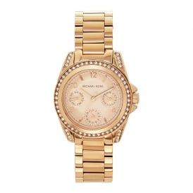 MK5613 Ladies Chronograph Rose Gold Tone Stainless Watch