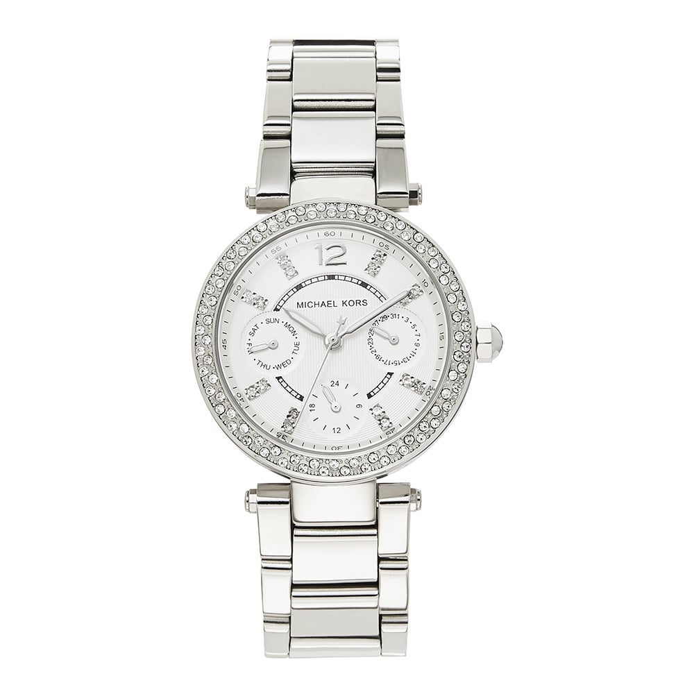 7cb3b1ae6a8f MK5615 Michael Kors Silver Stainless Steel Chronograph Ladies Watch  available at Tic Watches
