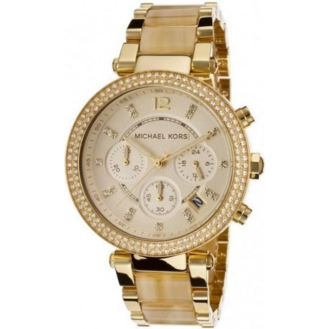 Michael Kors Watches MK5632 Gold Chronograph Ladies Watch