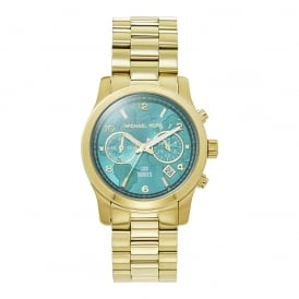MK5815 Gold & Blue Chronograph Ladies Watch