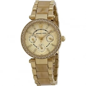 Michael Kors Watches MK5842 Gold Chronograph Ladies Watch