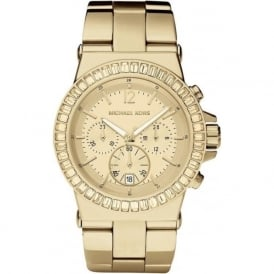 Michael Kors Watches MK5861 Gold Stainless Steel Chronograph Ladies Watch