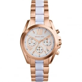 Michael Kors Watches MK5907 White & Rose Gold Chronograph Ladies Watch