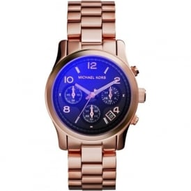 Michael Kors Watches MK5940 Runway Flash Lens & Rose Gold Chronograph Ladies Watch