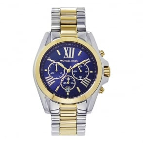 4473cb9b1140 MK5976 Bradshaw Blue   Two Tone Stainless Steel Chronograph Mens Watch Last  Few · Michael Kors ...