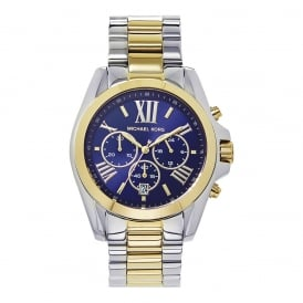 MK5976 Bradshaw Blue & Two Tone Stainless Steel Chronograph Mens Watch