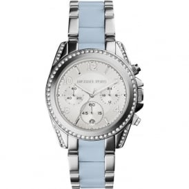 Michael Kors Watches MK6137 Blue & Silver Chronograph Ladies Watch