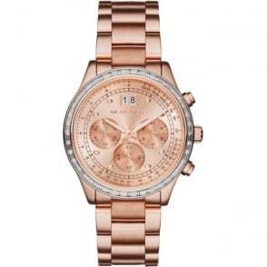 Michael Kors Watches MK6204 Brinkley Rose Gold Tone Stainless Steel Chronograph Ladies Watch