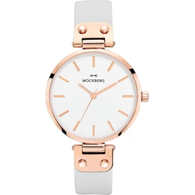 Mockberg MO1004 Alice Rose Gold & Grey Leather Ladies Watch
