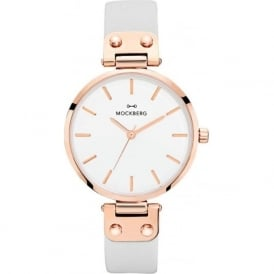 MO1004 Alice Rose Gold & Grey Leather Ladies Watch