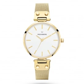 MO1601 Livia Gold Mesh Ladies Watch