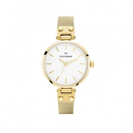 MO401 Livia Petite Gold Mesh Ladies Watch