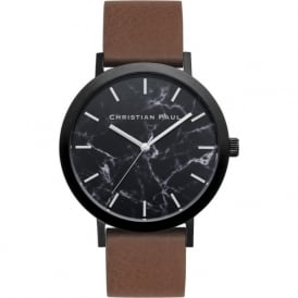 Christian Paul Watches MR-02 Bridport Marble Brown Leather Watch