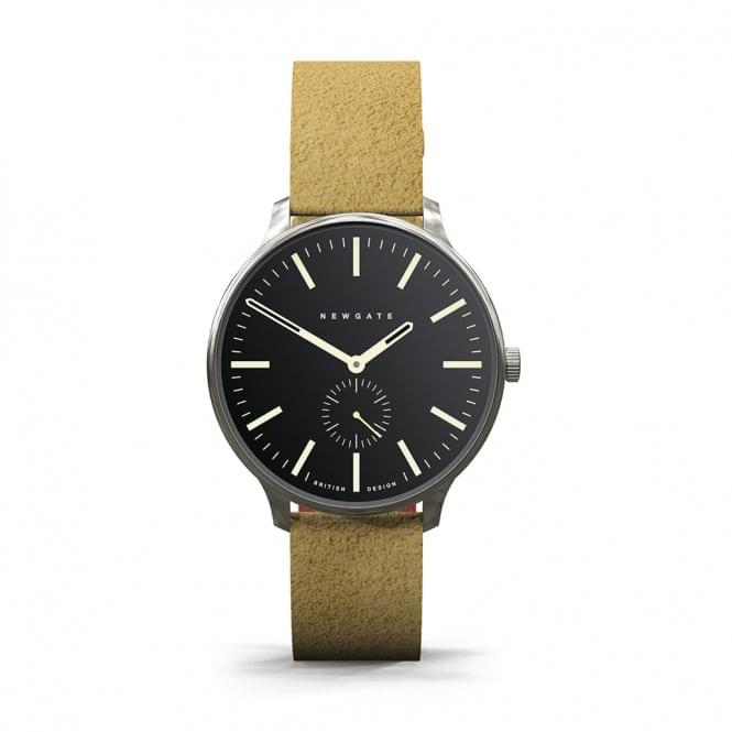 Newgate WWMBLPVS024SUT Blip Black & Tan Suede Strap Watch
