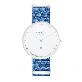 North Twenty Two DS104 Bergen Silver & Blue Nylon Ladies Watch