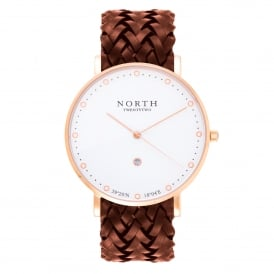 HR108 Stockholm Rose Gold & Brown Leather Men's Watch