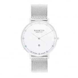 North Twenty Two DS109 Kiruna White & Silver Mesh Ladies Watch