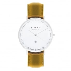 North Twenty Two DS103 Oslo Silver & Light Brown Leather Ladies Watch